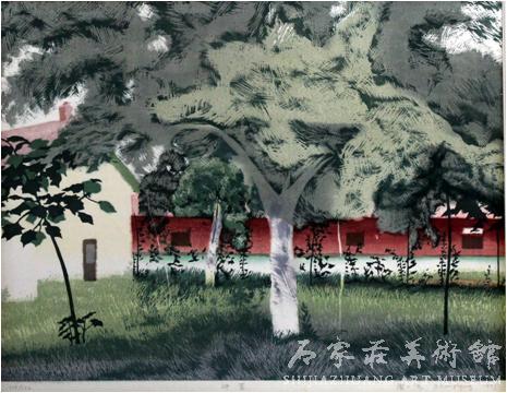 《仲夏》  周一清  46.5×59.5  版画