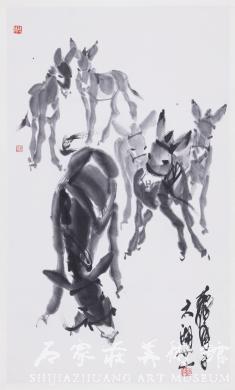 《六驴图》 黄胄 国画