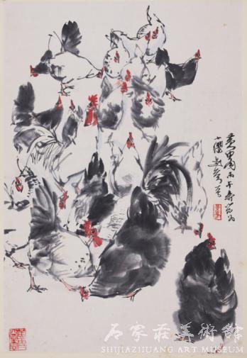 《群禽图》 黄胄 国画