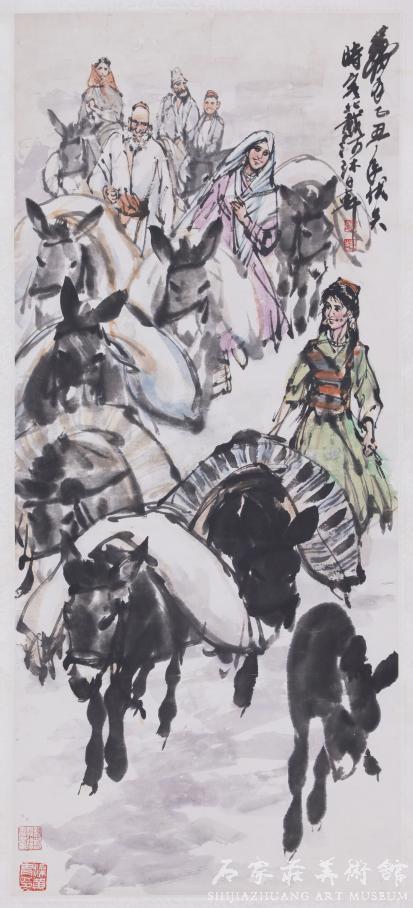 《运粮图》 黄胄 国画