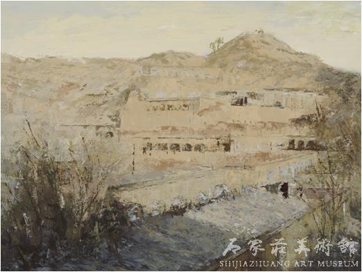 《昔日家园之二》  王善满  80×110  水粉