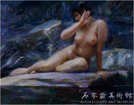 《湘灵》  张文新  88×111  油画