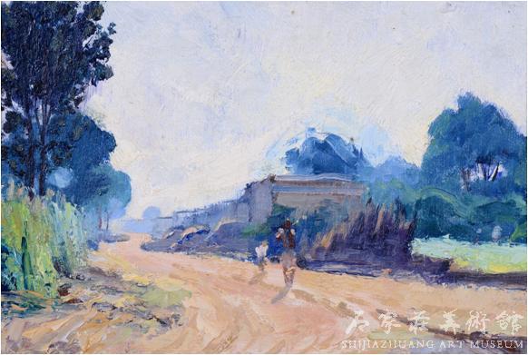 《早起》  苏高礼  16.7×34.4  油画